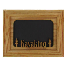 "Kayaking Oak Picture Frame and Oak Matte, 5""x7"""