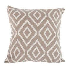 Kensington Cotton Cashmere Decorative Pillow in Tan And White