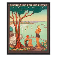 """""""Dinard"""" Framed Art Print, 55x65 cm"""