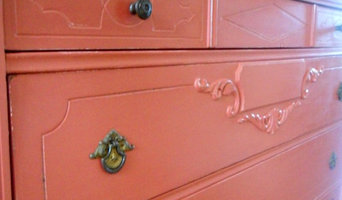 Red Dresser Before and After