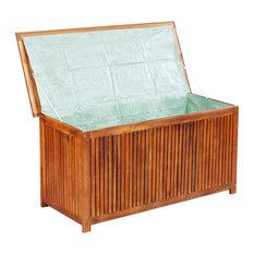 vidaXL Acacia Wood Outdoor Storage Box Patio Garden Pool Lawn Chest Container