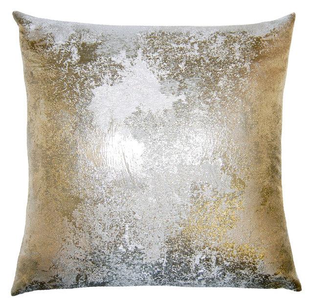 Nebula Pillow Antiqued Silver Contemporary Decorative