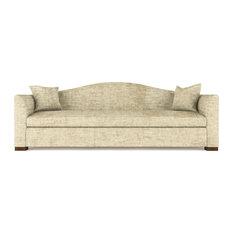 Horatio 7' Crushed Velvet Sofa Marzipan Classic Depth