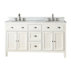 "Avanity Hamilton 61"" Double Vanity, French White Finish"