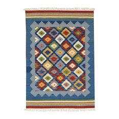 Kilim Classic Dark Blue Patterned Floor Rug, 230x170 cm
