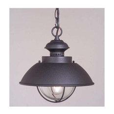 Vaxcel   Vaxcel Lighting OD21506TB Harwich Outdoor Hanging Light, Textured  Black   Outdoor Hanging Lights