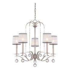 5-Light Chandelier, Imperial Silver