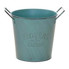Metal Iron Flower Pot Garden Plant Containers Planter Home Decor