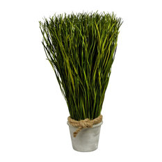 "Artificial Desktop Grass Planter, 13""x6"""