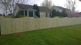 PREASURE TREATED PRIVACY FENCE SCALLOPED TOP
