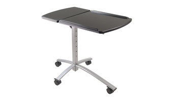 Winsome Wood 93427 Eric Adjustable Height Laptop Office Multimedia Cart, Black