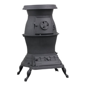 Vogelzang 1869/PB65XL Railroad Potbelly Coal Stove, 75,000 BTU