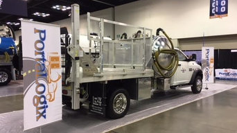 Pump Truck and Trailer for Portable Restroom Companies