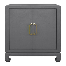 Worlds Away Renwick Accent Chest Gray Lacquer