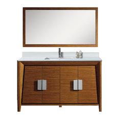 Midcentury modern bathroom vanities houzz - Mid century modern double bathroom vanity ...