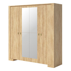 MAXIMAHOUSE   Nebraska 4 Doors Wardrobe   Armoires And Wardrobes