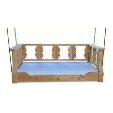 Antebellum Crib Swingbed, Antique Cypress Stained Frame / Spectrum Graphite Cove