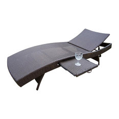 Chaise Lounge in Coffee - Elite Resin Wicker