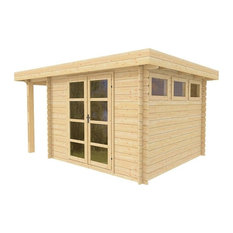 Wooden Modern Shed Kit Moderna2 by Solid Build, 10'x13'
