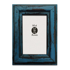 Painted Distressed Wood Frame, Turquoise