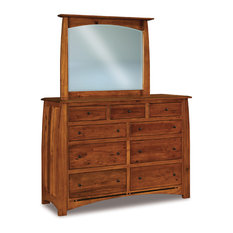 Boulder Creek 9 Drawer Dresser and Mirror