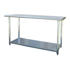 50 most popular industrial prep tables for 2018 houzz sportsman series sportsman series kitchen island stainless steel work table 24x60 watchthetrailerfo