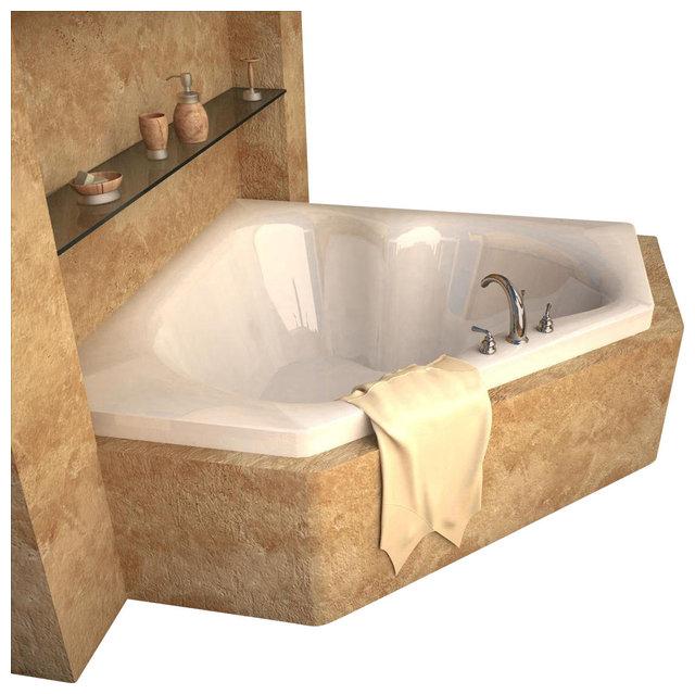 Atlantis Tubs 6060C Cascade 60x60x23 Inch Corner Soaking Bathtub