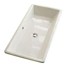 "Nameeks 8033 Scarabeo Gaia 34-1/4"" Ceramic Drop in Bathroom Sink, White"