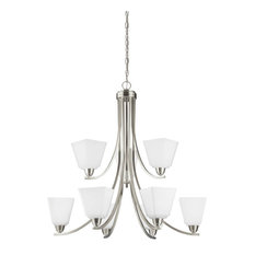 Sea Gull Lighting 9-Light Chandelier, Brushed Nickel