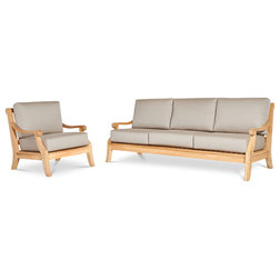 Transitional Outdoor Lounge Sets by HiTeak Furniture