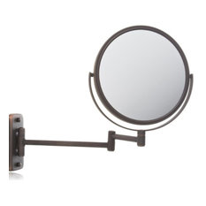 Jerdon JP7506BZ 8-Inch Two-Sided Swivel Wall Mount Mirror with 5x Magnification,