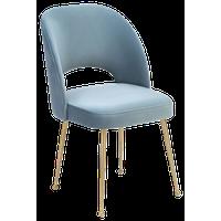 Swell Sea Blue Velvet Chair - Blue