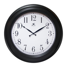 """24"""" Round Wall Clock Finish Case, Glass Lens over Hands and Aluminum Hands"""
