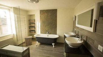 Salle de bain avec StoneLeaf Goa