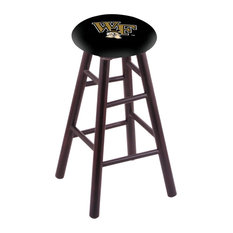 Maple Counter Stool Dark Cherry Finish With Wake Forest Seat 24-inch