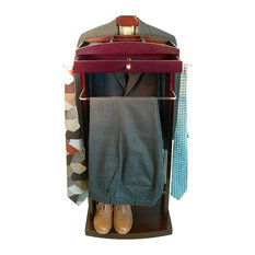 Proman Products - Milan Wardrobe Valet With Contour Hanger - Clothing Valets and Suit Stands