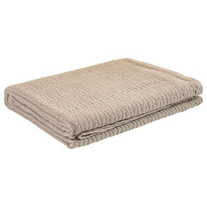 Southall Bedspread, Taupe, Super King 270x270 cm
