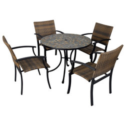 Ideal Tropical Outdoor Dining Sets by Home Styles Furniture