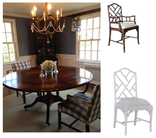 Enjoyable White Or Brown Chippendale Chairs Theyellowbook Wood Chair Design Ideas Theyellowbookinfo
