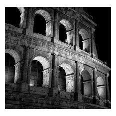 """Coliseum"" Acrylic Color Painting, Multi"
