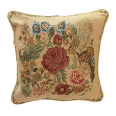 Spring Colorful Floral Tapestry Country Rustic Morning Meadow Cushion Cover