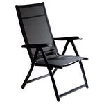 Otto Trading Inc - Heavy Duty Adjustable Reclining Folding Chair, Single - High Quality Heavy Duty Durable Metal Framed Folding Chair with Zero Gravity Positionning