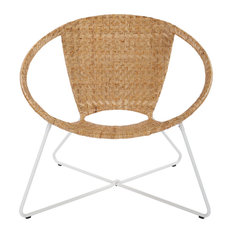 Navarre Lounge Chair, Natural/White