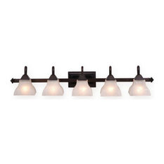Vaxcel Lighting VL26305 Cardiff 5 Light Bathroom Vanity Light - - Bronze