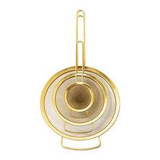 Bloomingville Gold Kitchen Utensil Sieve Set