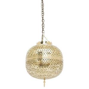 Eclat Brass Moroccan Pendant, 32 x 32 x 52cm