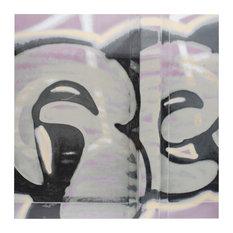 "SomerTile 17.38""x17.38"" Graffiti Porcelain Floor and Wall Tiles, Set of 5"