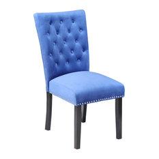 Markelo Sky Blue Velvet Dining Chairs, Set of 2
