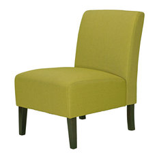 Cortesi Home   Chicco Citron Green Armless Accent Chair   Armchairs And  Accent Chairs