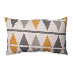 Pillow Perfect Inc - Ikat Argyle Birch Rectangular Throw Pillow - Decorative Pillows